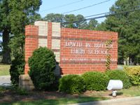 Butler High School Sign at Main Entrance