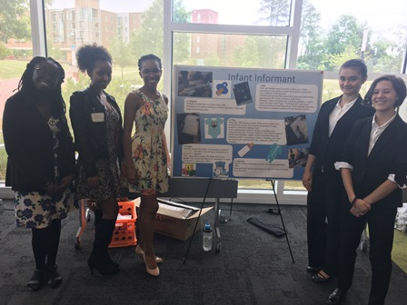 Photo of Hawthorne Students Participating in the NC State Wearable Device Competition