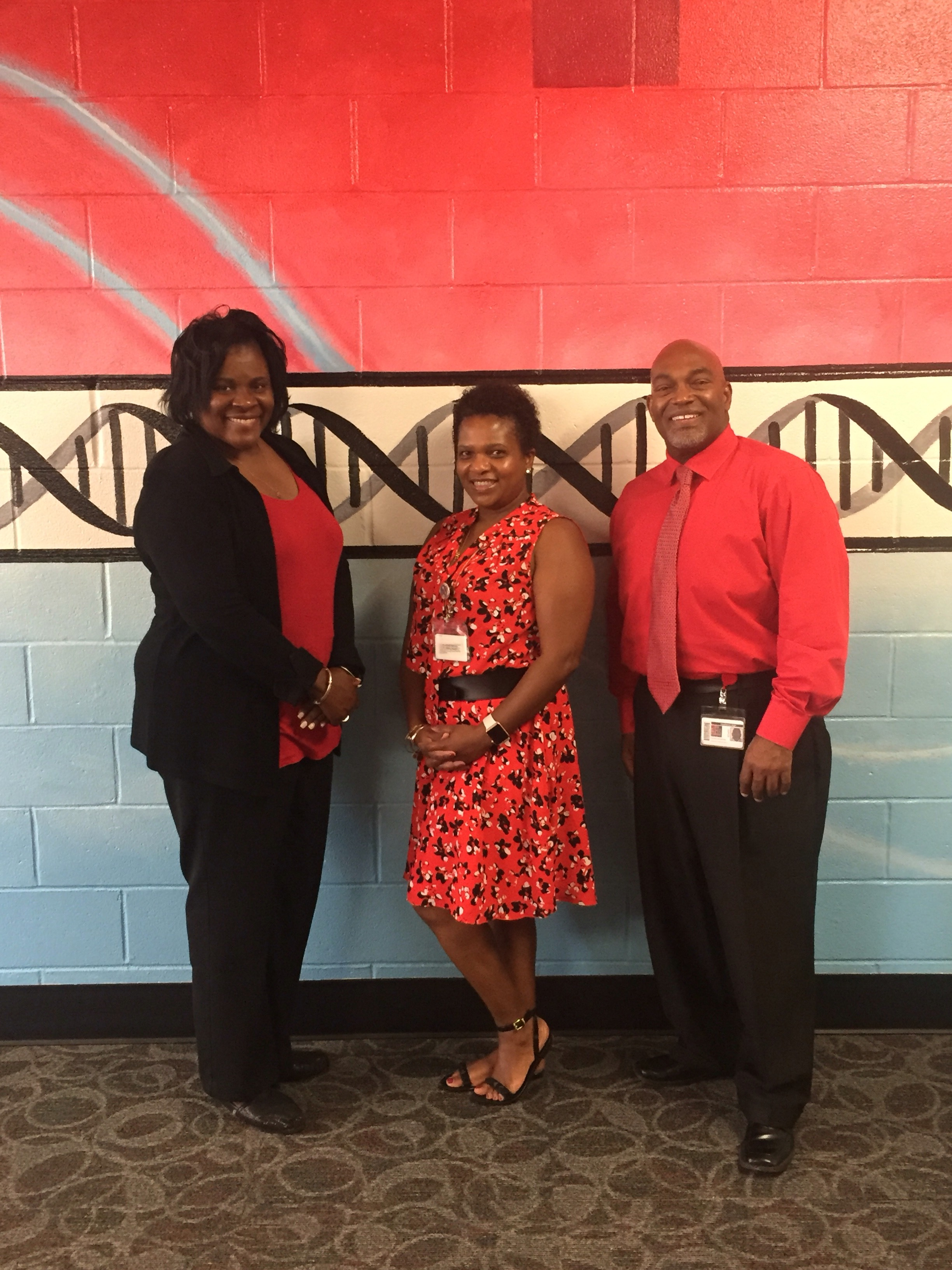 Photo of Principal and the Assistant Principals of Hawthorne Academy