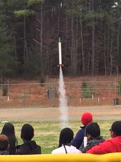 starbase rocket launch and 5th grade students