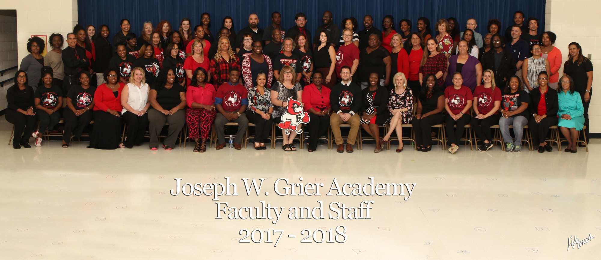 Group photograph of the staff of Joseph W. Grier Academy.