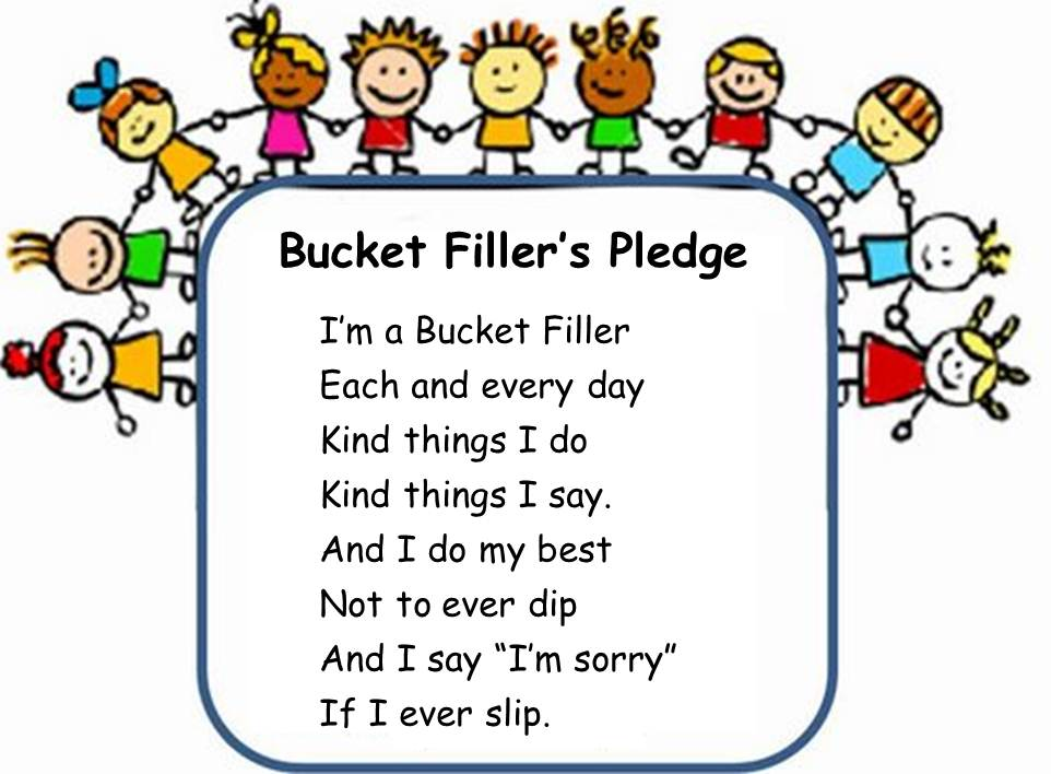Free coloring pages of i am a bucket filler