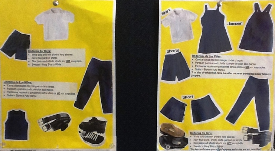 Boys and Girls uniforms